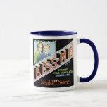 Vintage Kiss-me Seald Sweet Fruit Crate Label Mug