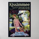 Vintage Kissimmee Osceola County Florida Travel Poster