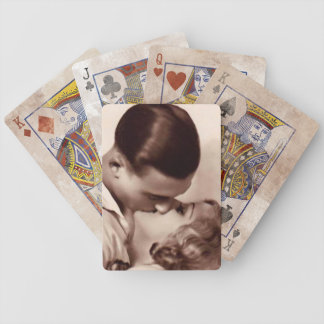 Vintage Kissing Bicycle Playing Cards