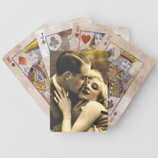 Vintage Kissing Couple Bicycle Playing Cards