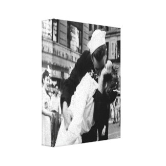 Vintage Kissing Couple.Hug Kiss Wrapped Canvas Stretched Canvas Prints
