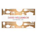 Vintage Kitchen Collage on Copper Chef, Catering Double-Sided Standard Business Cards (Pack Of 100)