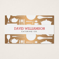 Vintage Kitchen Collage On Copper Chef, Catering Business Card at Zazzle