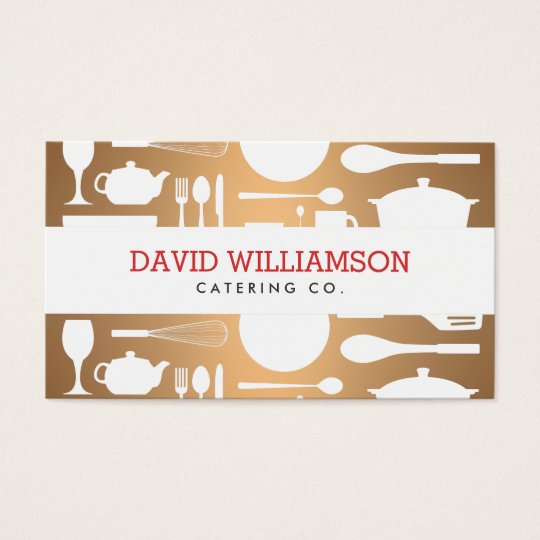 Vintage kitchen collage on copper chef catering business card vintage kitchen collage on copper chef catering business card reheart Images