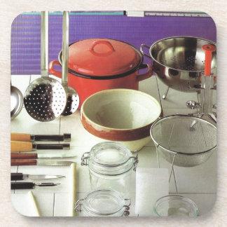 Vintage Kitchen Essentials Drink Coasters