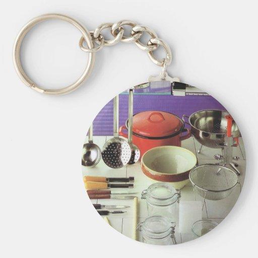 Vintage Kitchen Essentials Keychains