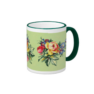 Vintage Kitchen - Floral Bouquet - Textile Mug