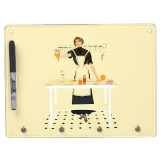Vintage Kitchen Girl Dry Erase Board