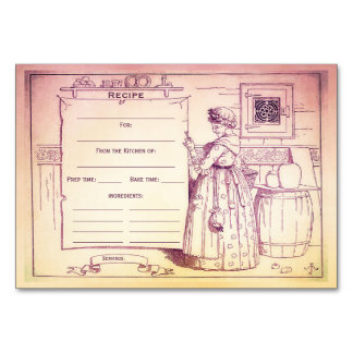 Vintage Kitchen Old Mother Hubbard Recipe Card