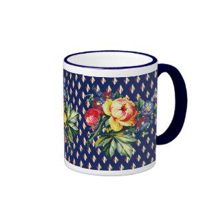 Vintage Kitchen - Quilt - Floral Textile Mug