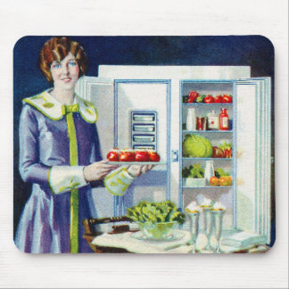 Vintage Kitsch 20s Refrigerator Fridge Icebox Mouse Pad