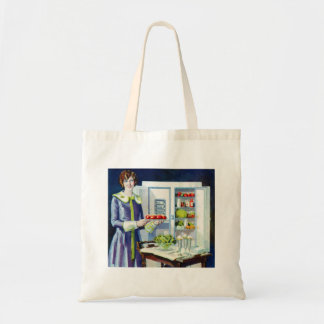 Vintage Kitsch 20s Refrigerator Fridge Icebox Tote Bag