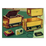 Vintage Kitsch 50s High Fidelity Stereo TV Sets Cards