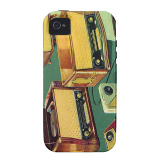Vintage Kitsch 50s High Fidelity Stereo TV Sets iPhone 4/4S Cover