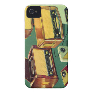 Vintage Kitsch 50s High Fidelity Stereo TV Sets iPhone 4 Case