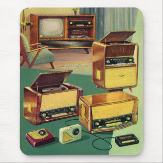 Vintage Kitsch 50s High Fidelity Stereo TV Sets Mouse Pad