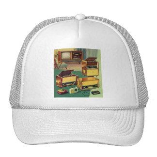 Vintage Kitsch 50s High Fidelity Stereo TV Sets Trucker Hat