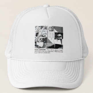 Vintage Kitsch 60s Color TV Ad Suburbs Wife Trucker Hat