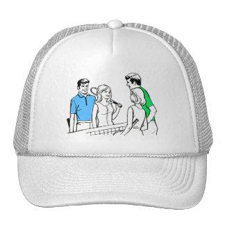 Vintage Kitsch 60s DoublesTennis Players Trucker Hat