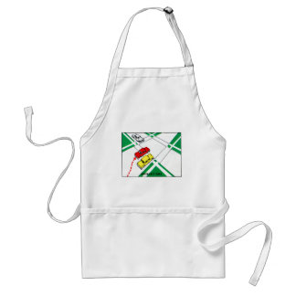 Vintage Kitsch 60s Drivers Ed Manual Intersections Adult Apron