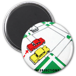 Vintage Kitsch 60s Drivers Ed Manual Intersections Magnet
