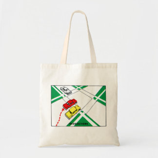 Vintage Kitsch 60s Drivers Ed Manual Intersections Tote Bag