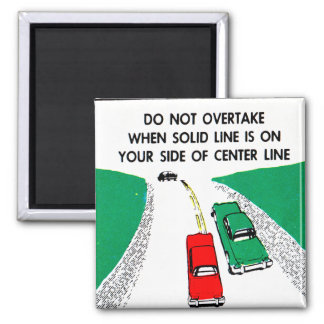 Vintage Kitsch 60s Drivers Ed Manual Passing Cars Magnets
