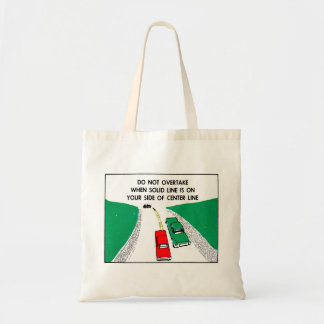 Vintage Kitsch 60s Drivers Ed Manual Passing Cars Tote Bag
