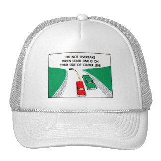Vintage Kitsch 60s Drivers Ed Manual Passing Cars Trucker Hat