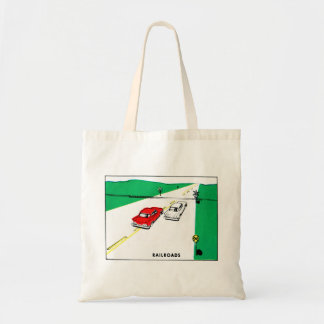Vintage Kitsch 60s Drivers Ed Manual Train Cross Tote Bag