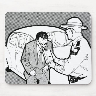 Vintage Kitsch 60s Driving Breathalyzer DWI Mouse Pad