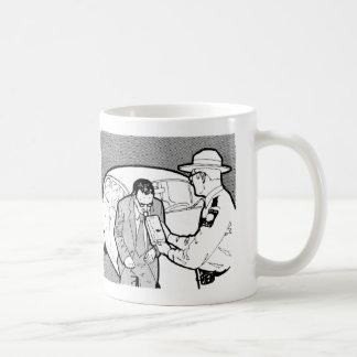 Vintage Kitsch 60s Driving Breathalyzer DWI Classic White Coffee Mug