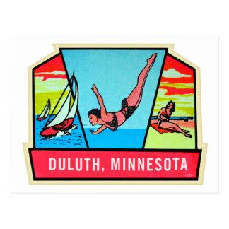 Vintage Kitsch 60s Dultuh Minnesota Travel Decal Postcard