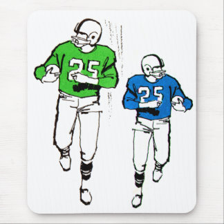Vintage Kitsch 60s Football Plaers Halfbacks Mouse Pad