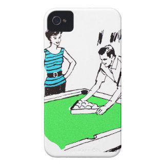 Vintage Kitsch 60s Pool Table Billards Players Case-Mate iPhone 4 Case