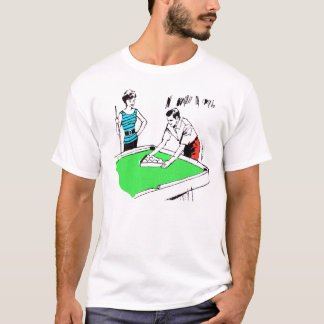 Vintage Kitsch 60s Pool Table Billards Players T-Shirt