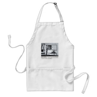 Vintage Kitsch 60s Suburbs Remote Control Home Adult Apron