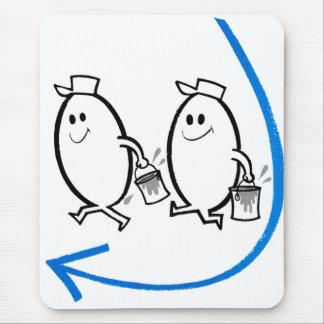Vintage Kitsch Ad Cartoon Good Eggs Smile! Mouse Pad