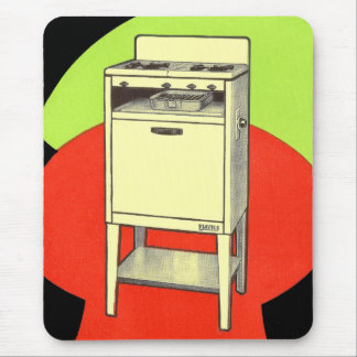 Vintage Kitsch Appliances Gas Burner Stove Oven Mouse Pad