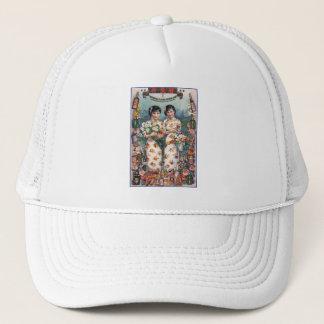 Vintage Kitsch Asian Advertisement Girls Trucker Hat