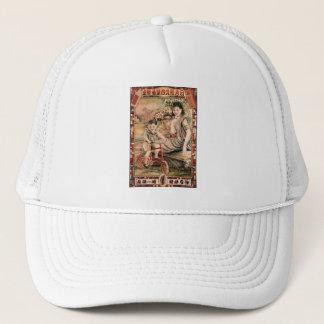 Vintage Kitsch Asian Advertisement Woman Trucker Hat