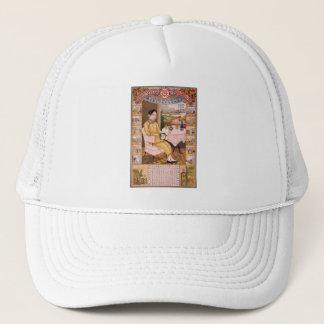 Vintage Kitsch Asian Tea Advertisement Girl Trucker Hat