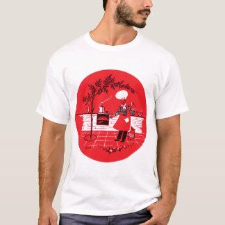 Vintage Kitsch BBQ Barbecue Suburban Dad T-Shirt