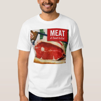 Vintage Kitsch Beef Meat it's A Treat To Eat T-Shirt