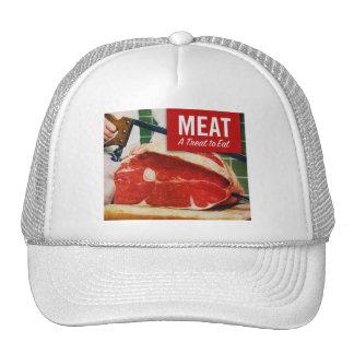 Vintage Kitsch Beef Meat it's A Treat To Eat Trucker Hat
