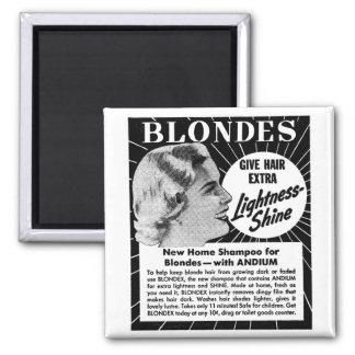 Vintage Kitsch Blondes 40s Shampoo Ad Magnet
