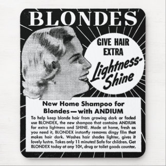 Vintage Kitsch Blondes 40s Shampoo Ad Mouse Pad