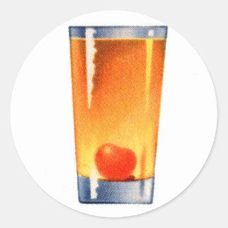Vintage Kitsch Booze 60s Cocktail Whisky Sour Classic Round Sticker