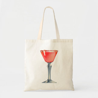 Vintage Kitsch Booze Cocktail Pink Lady Tote Bags