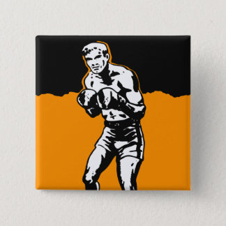 Vintage Kitsch Boxing Boxer in The Ring Pinback Button